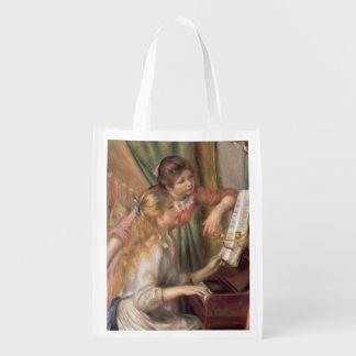 Pierre ein Renoir | junge Mädchen am Klavier Wiederverwendbare Einkaufstasche