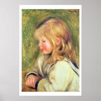 Pierre ein Renoir | Kind in einer weißen Poster