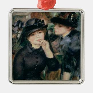 Pierre ein Renoir | Mädchen im Schwarzen Silbernes Ornament