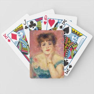 Pierre ein Renoir   Porträt von Jeanne Samary Bicycle Spielkarten