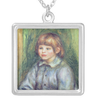 Pierre ein Renoir | Sitzporträt von Claude Renoir Versilberte Kette