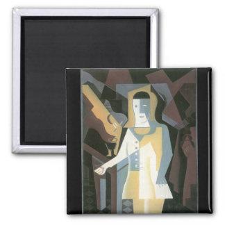 Pierrot par Juan Gris Magnets Pour Réfrigérateur