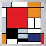 Piet Mondrian - composition avec le grand avion Poster
