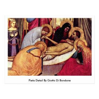Pieta-Detail durch Giotto Di Bondone Postkarte