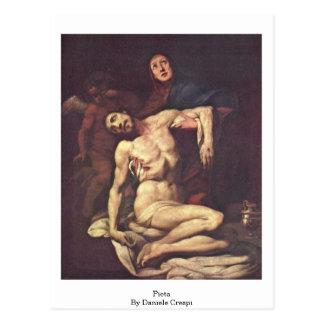 Pieta. Durch Daniele Crespi Postkarte