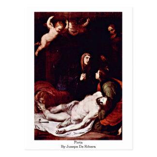 Pieta durch Jusepe De Ribera Postkarte