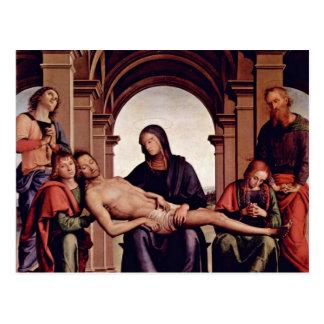 Pietà durch Perugino Pietro (beste Qualität) Postkarte