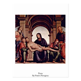 Pieta durch Pietro Perugino Postkarte