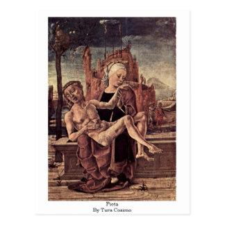 Pieta durch Tura Cosimo Postkarte