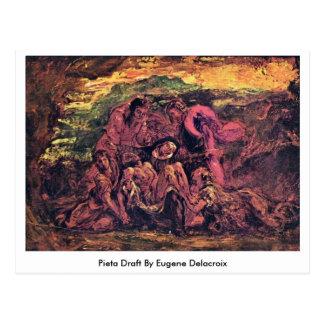 Pieta-Entwurf durch Eugene Delacroix Postkarte