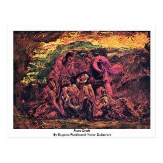 Pietà Entwurf durch Eugène Ferdinand Sieger Postkarte