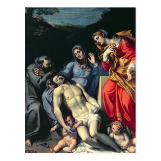 Pieta mit St Francis und St Mary Magdalene, c.1 Postkarte