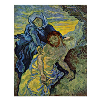 Pieta (nach Delacroix) durch Vincent Willem Van Poster