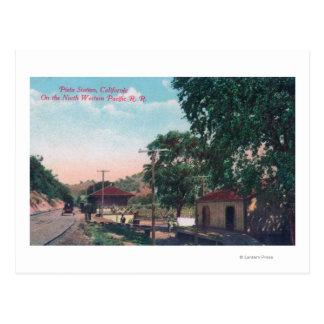 Pieta-nordwestliche Pazifik Eisenbahn-Station Postkarte