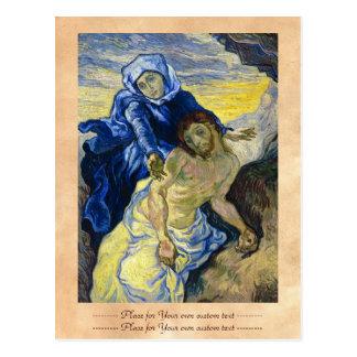 Pieta-Vincent van Gogh-Kunstmalerei Postkarte