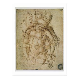 Pieta, zugeschrieben entweder Giovanni Bellini Postkarte