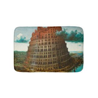 PIETER BRUEGEL - Der kleine Turm von Babel 1563 Badematte