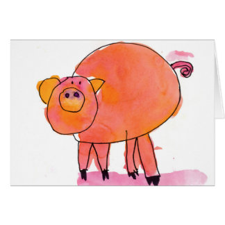 Piggle • Sarah Bowen, Alter 7 Mitteilungskarte