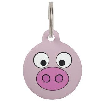 Piggy Gesicht Tiernamensmarke