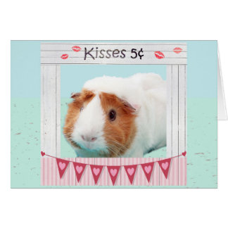 Piggy Umarmungen und Küsse Grußkarte