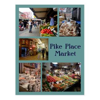Pike-Platz-Collage Postkarte