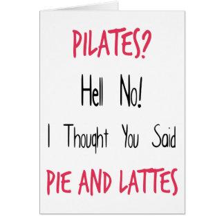 Pilates lustiges Zitat, Schwarzes und Rosa Karte