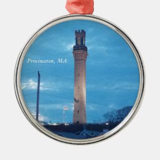 Pilger-Turm, Provincetown, MA-Verzierung 1 Silbernes Ornament