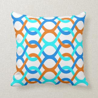 pillow Innen- oder Retro blaue Aquaorange im Kissen