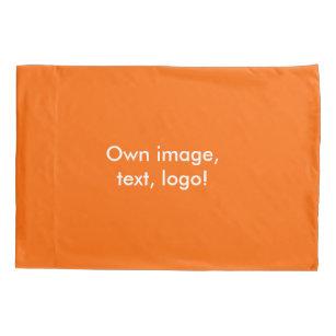 Pillowcase(s) bis Orange Kissenbezug