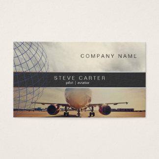 Pilot Aviator Plane Driver Mechanic Aviation Visitenkarte