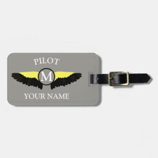 Pilot- oder Flugzeugkabinen-Crew Kofferanhänger