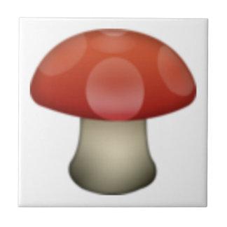 Pilz - Emoji Kleine Quadratische Fliese