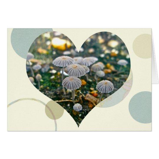 Pilz-Garten-Herz-Karte Grußkarte
