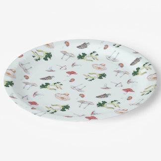Pilz-Mischungs-Papier-Teller Pappteller 22,9 Cm