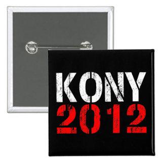 Pin de bouton de KONY 2012 Badge Carré 5 Cm
