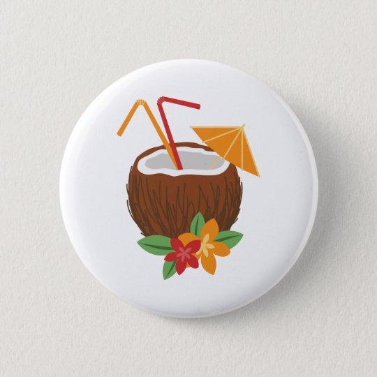 Pina Colada Kokosnuss Runder Button 5,7 Cm
