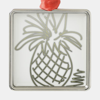 PineDoodle Silbernes Ornament