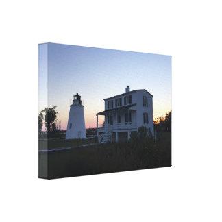 Piney Punkt-Leuchtturm-Leinwand Leinwanddruck