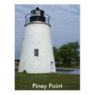 Piney Punkt-Leuchtturm Postkarte