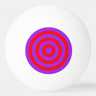 Ping Pong Ball-- lila und rote innere Kreise Tischtennis Ball