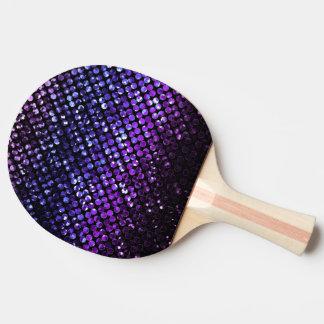 Ping Pong Paddel lila KristallBling Strass Tischtennis Schläger