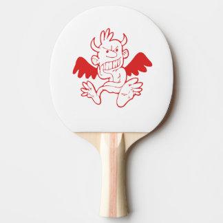 Ping pong paddle schwaches Comic Tischtennis Schläger