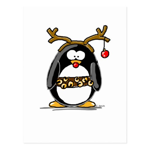 Pingouin de Rudolph Cartes Postales
