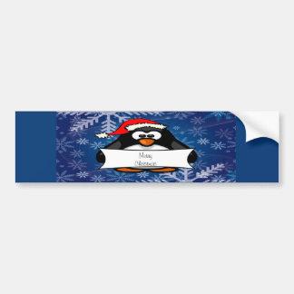 Pingouin de vacances autocollant de voiture