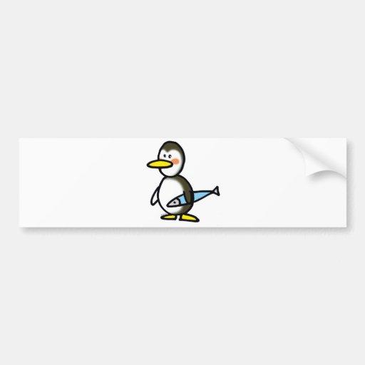 pingouin et poissons adhésifs pour voiture