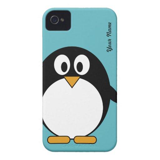 Pingouin mignon de bande dessinée - couverture de  étui iPhone 4