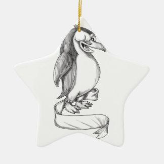 Pinguin-Band-Seiten-Tätowierung Keramik Ornament