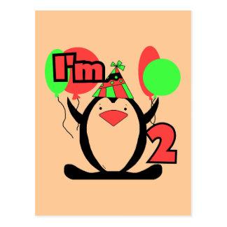 Pinguin bin ich zwei T-Shirts und Geschenke Postkarte