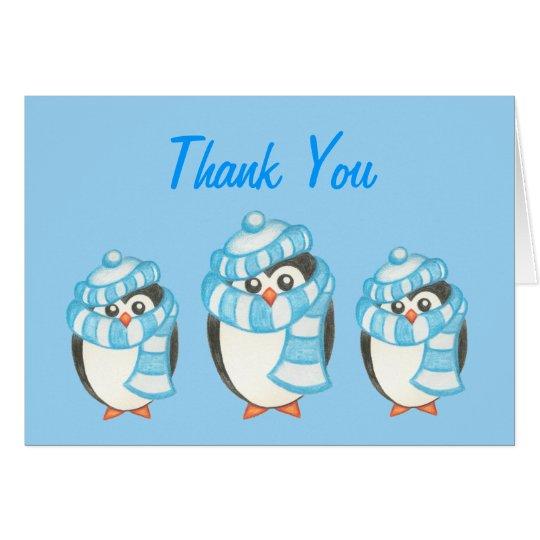 Pinguin danken Ihnen zu kardieren Karte