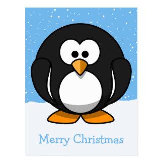Pinguin-frohe Weihnachten Postkarte